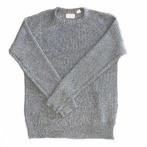 Weatherproof Vintage knit gray sweater